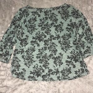 Maurice Floral Baby Blue Boatneck Tunic Blouse
